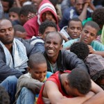 Eritrean Refugees Captured by the Libyan Army Trying to Cross to Italy via the Mediterranean Sea