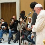 Pope Francis' receives Lampedusa migrants