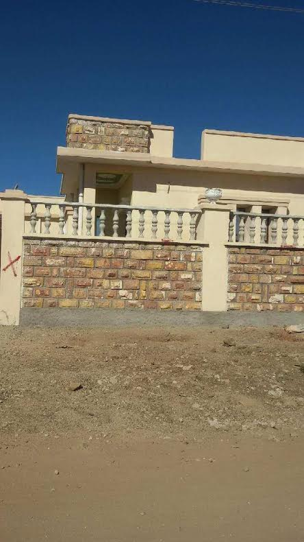 One of the villas demolished by the PFDJ in Tselot, Feb 17, 2015